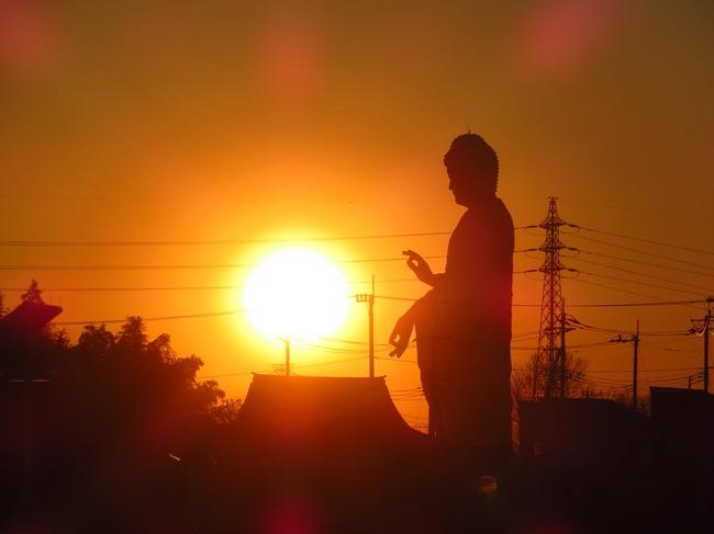 牛久大仏 波 かめはめ波 波動拳 太陽 写真に関連した画像-05