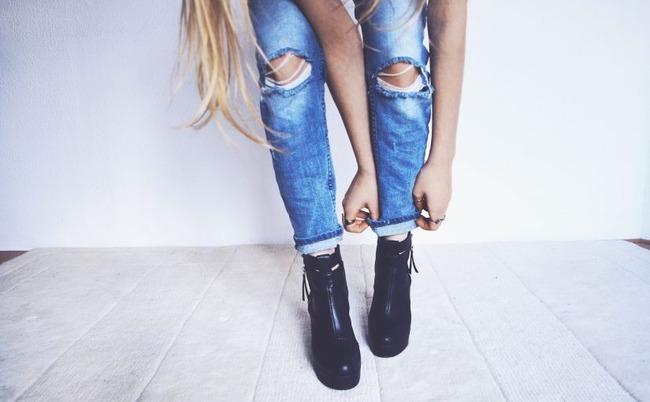 デニム ダメージジーンズ ショートパンツに関連した画像-01