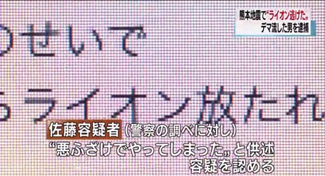 ツイッター デマ 逮捕 熊本地震 ライオン 動物園に関連した画像-06