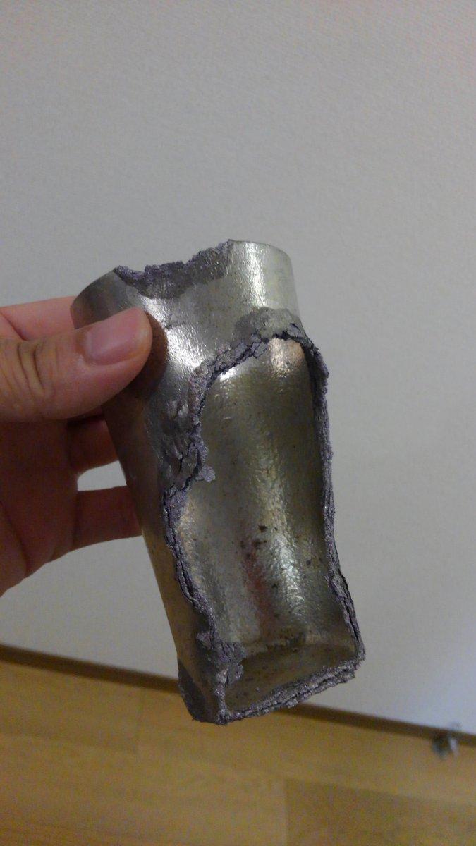 錫製タンブラー 冷凍庫 粉々 同素変態 スズペストに関連した画像-02