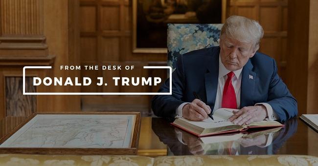 アメリカ トランプ トランプ前大統領 ウェブサイト ドナルド・トランプの机から 開設 立ち上げに関連した画像-01