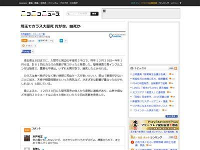 埼玉県 入間市 カラス 餓死 餌に関連した画像-02