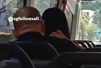 シンガポールバス車内髪の毛舐める痴漢に関連した画像-01