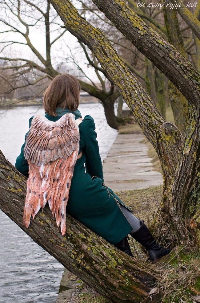 羽 バックパック 鳥の羽 リュックサック 鞄に関連した画像-13