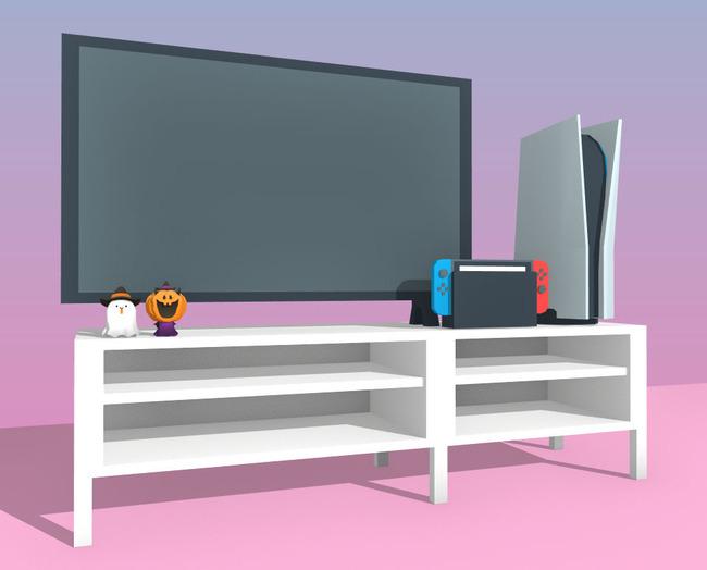 PS5 大きさ 比較 リビング テレビに関連した画像-05