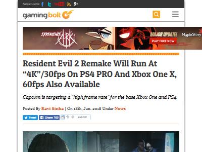 バイオハザード2 リメイク PS4 Xboxに関連した画像-02