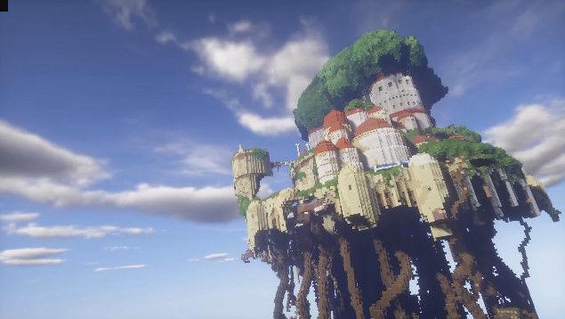 天空の城ラピュタ マインクラフト マイクラ ジブリに関連した画像-01