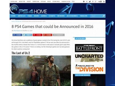 2016年 PS4タイトル 予想に関連した画像-02