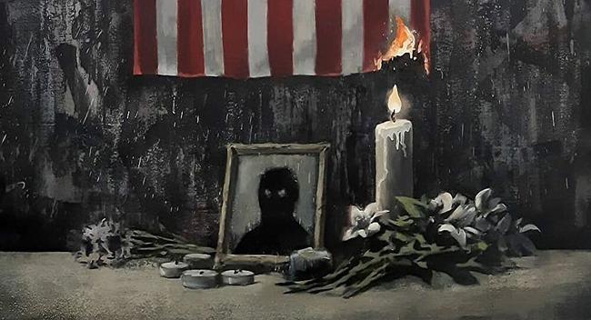 バンクシー 黒人男性死亡 デモ 人種差別 アートに関連した画像-01