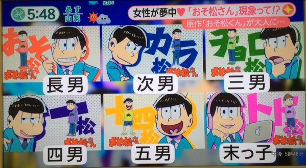 フジテレビ おそ松さん おそ松くん 特集 有名漫画家 やくみつる 六つ子 長男に関連した画像-04