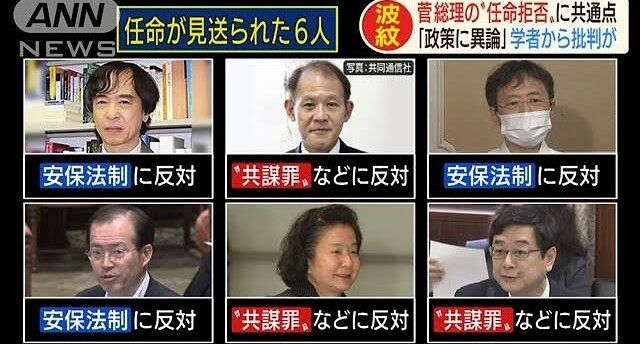 【ド正論】東大名誉教授「任命拒否された6人は就職に失敗しただけ、学問の自由を奪われた人は誰もいません」