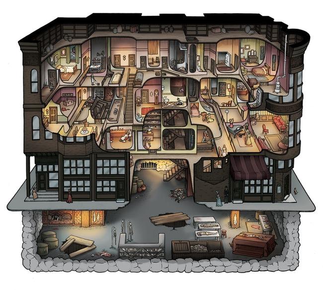 殺人狂 H・H・ホームズ 建築 殺人ホテル 見取り図 秘密 地下 拷問に関連した画像-02