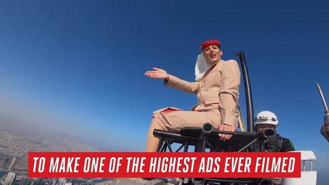 エレミーツ航空 CM ドバイ高層ビル ビルブルジュ・ハリファ 頂上 撮影に関連した画像-09