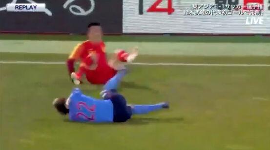 サッカー 反則 中国 カンフー 飛び蹴り 日本 イエローカードに関連した画像-08