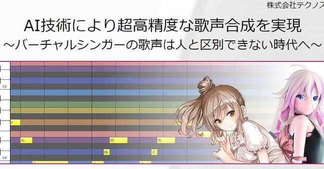 歌声合成 テクノスピーチ AIに関連した画像-01