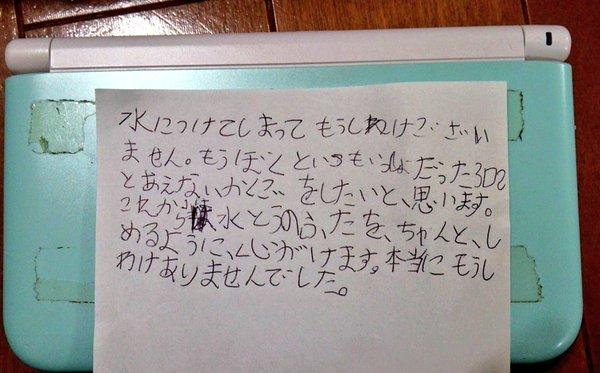 3DS 水没 謝罪 8歳児に関連した画像-01