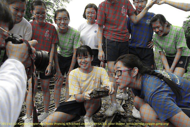 白黒写真 色線 カラー写真に関連した画像-02