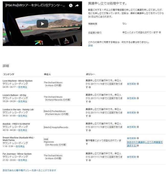 グランツーリスモ グランツーリスモSPORT GT クソゲー 配信 動画 削除 著作権 侵害 楽曲に関連した画像-02