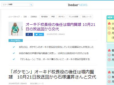 オーキド博士 声優 石塚運昇 死去 訃報 後任 堀内賢雄に関連した画像-02