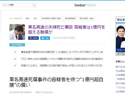 東名夫婦死亡 石橋和歩 容疑者 民事 賠償 1億円に関連した画像-02