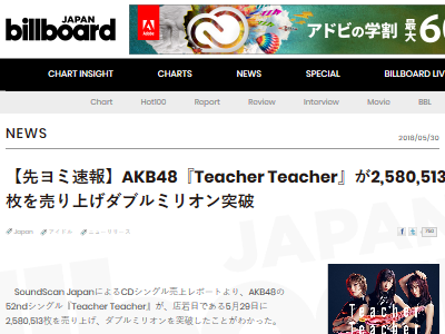 AKB48 258万枚 ダブルミリオン CD TeacherTeacher 大量 廃棄に関連した画像-02