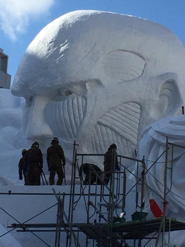 進撃の巨人 さっぽろ雪まつり 巨大雪像 ラブライブ! 札幌雪まつりに関連した画像-04