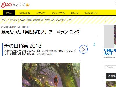 異世界 アニメ ランキングに関連した画像-02