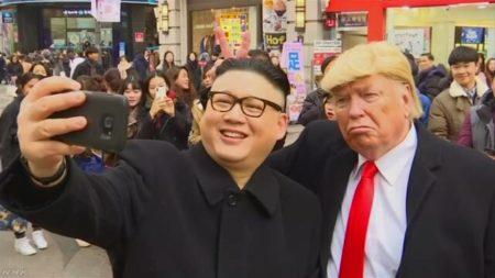 金正恩 ものまね芸人 北朝鮮 応援団 突撃に関連した画像-01