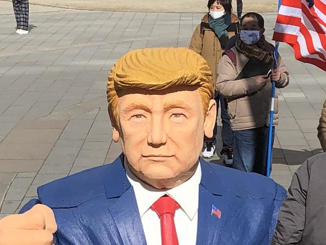 トランプ大統領 支持者 デモ行進 福岡 米大統領 日本 陰謀論に関連した画像-03