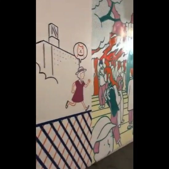 渋谷 工事中シャッター 絵に関連した画像-06