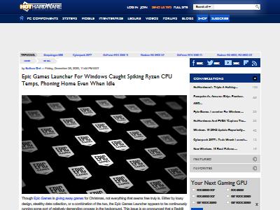 エピックゲームズ ランチャー バックグラウンド起動 CPU温度 上昇 スパイウェアに関連した画像-02