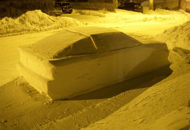 雪かき 車 雪像 警官に関連した画像-04