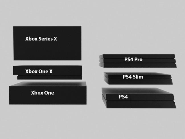 XboxSeriesX 他ハード サイズ比較に関連した画像-04