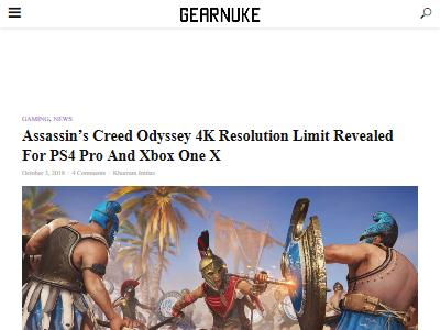 PS4Pro XboxOneX アサシンクリード オデッセイ 動画 画質比較に関連した画像-02