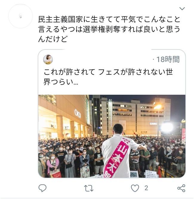 選挙活動 街頭演説 山本太郎 フェス クラスター 自粛 新型コロナウイルスに関連した画像-05