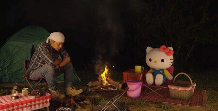 ヒロシ ハローキティ 焚き火 Youtube コラボ 動画に関連した画像-01