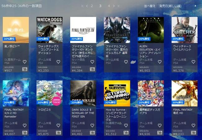 PS4 DL セール 期間限定 フォールアウト4 ウィッチャー3に関連した画像-06
