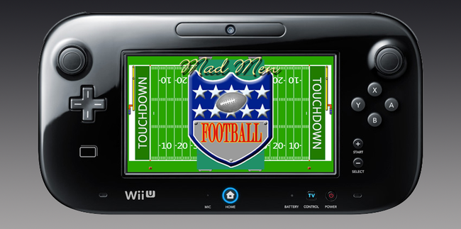 Mad Men Football Wii U GamePad press release