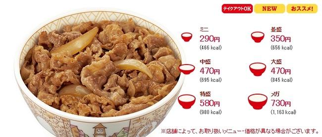 すき家 牛丼 値上げに関連した画像-06