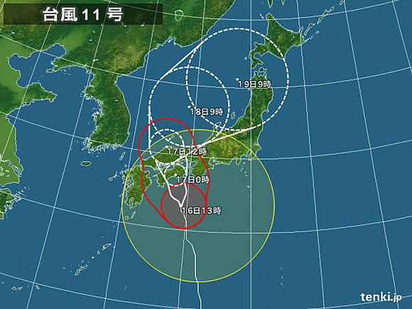 台風 トラック 猛風に関連した画像-04