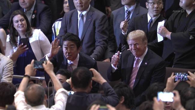 トランプ大統領 大相撲 観戦に関連した画像-03
