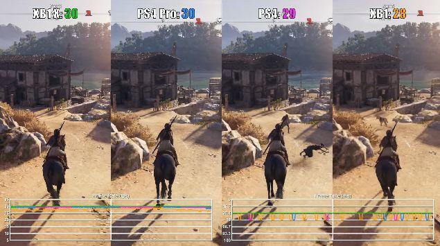 PS4Pro XboxOneX アサシンクリード オデッセイ 動画 画質比較に関連した画像-04