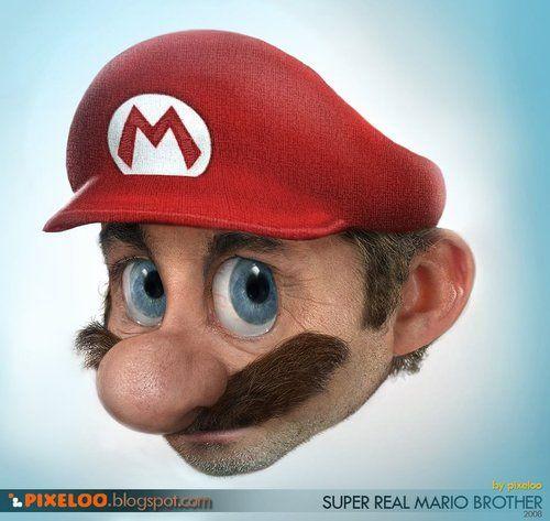 マリオ ヒゲ 髭 ヒゲ剃り スーパーマリオ ツイッター CGに関連した画像-01