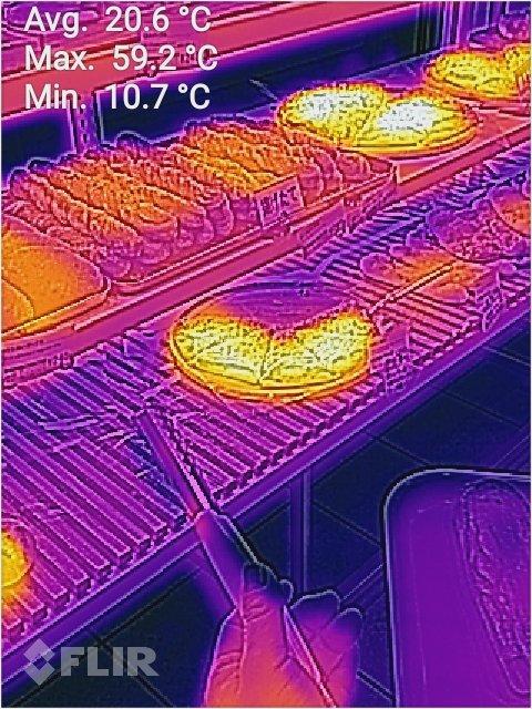 サーモグラフィー スマホ パン屋 焼きたて パンに関連した画像-02