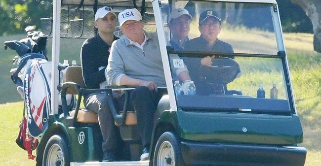 朝日新聞 安倍総理 トランプ大統領 ゴルフ 運転手 ブーメランに関連した画像-01