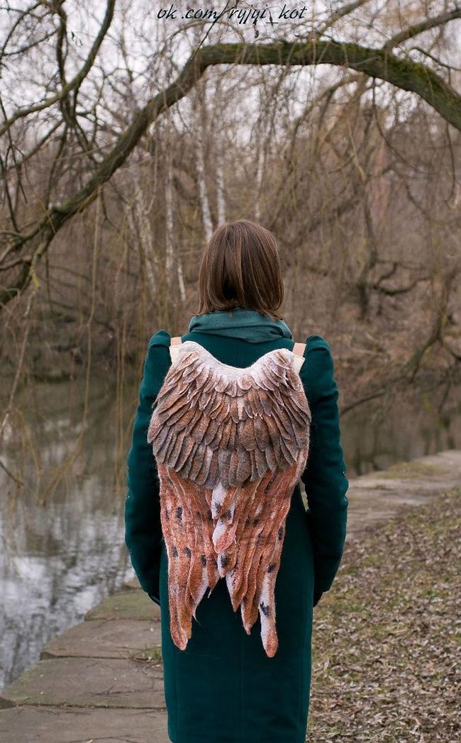羽 バックパック 鳥の羽 リュックサック 鞄に関連した画像-11