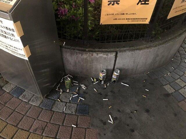 コロナ喫煙所閉鎖ポイ捨てに関連した画像-03