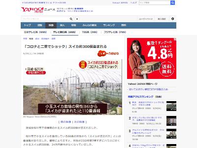 茨城スイカ300個盗難に関連した画像-02