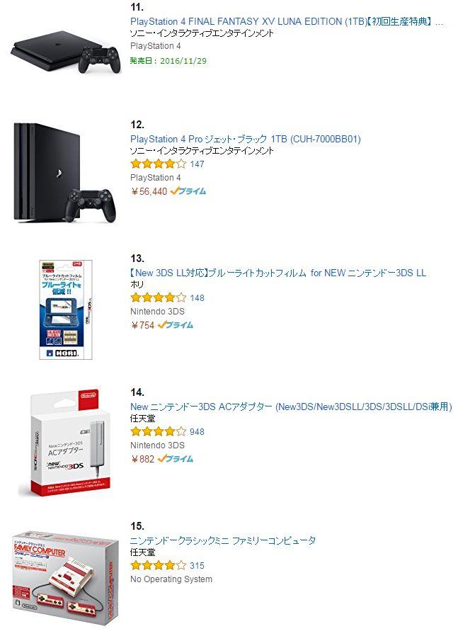 ファイナルファンタジー15 FF15 Amazon ランキング 発売に関連した画像-04