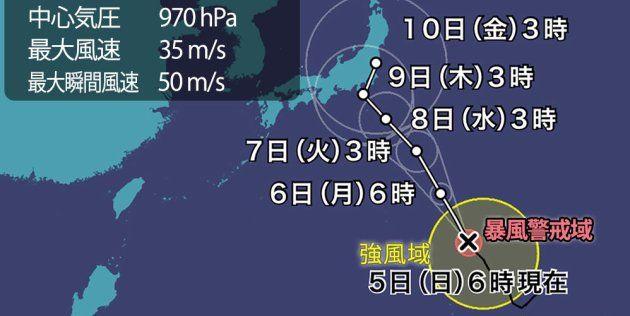 台風13号 進路 太平洋 関東 東北に関連した画像-01